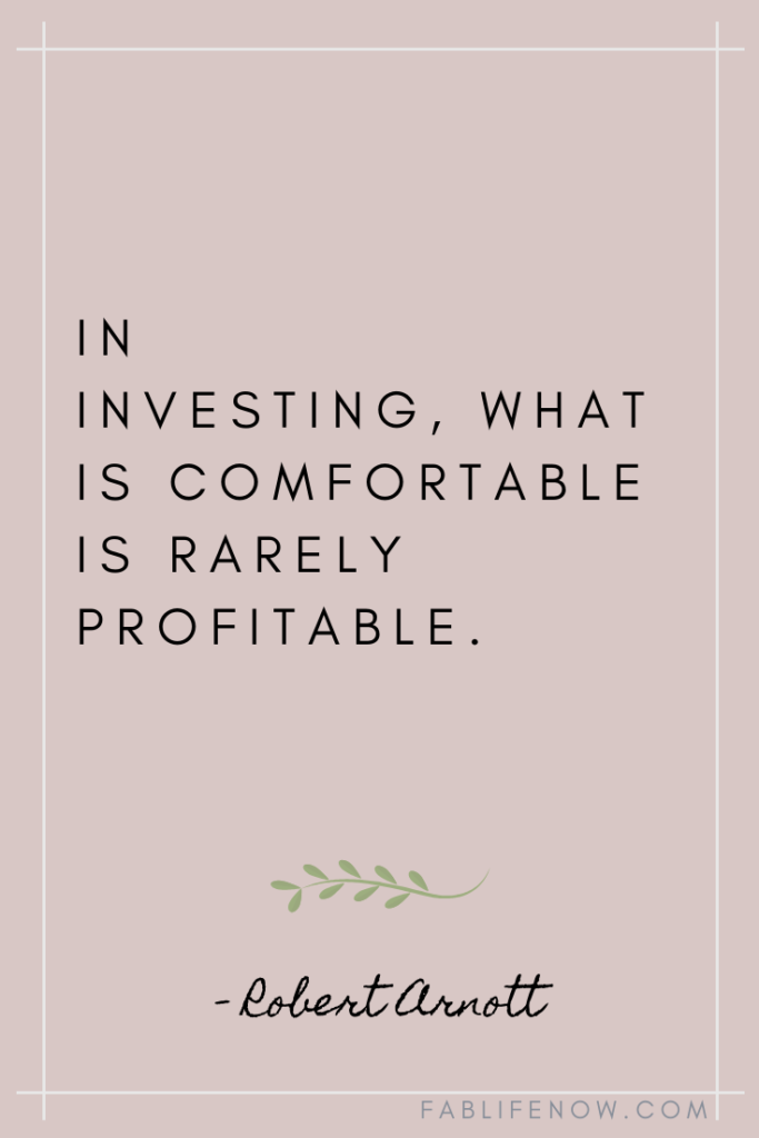 investing in what is comfortable