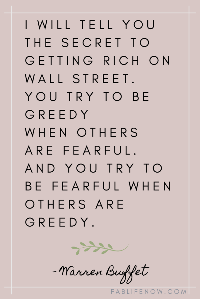 don't invest when you feel greedy
