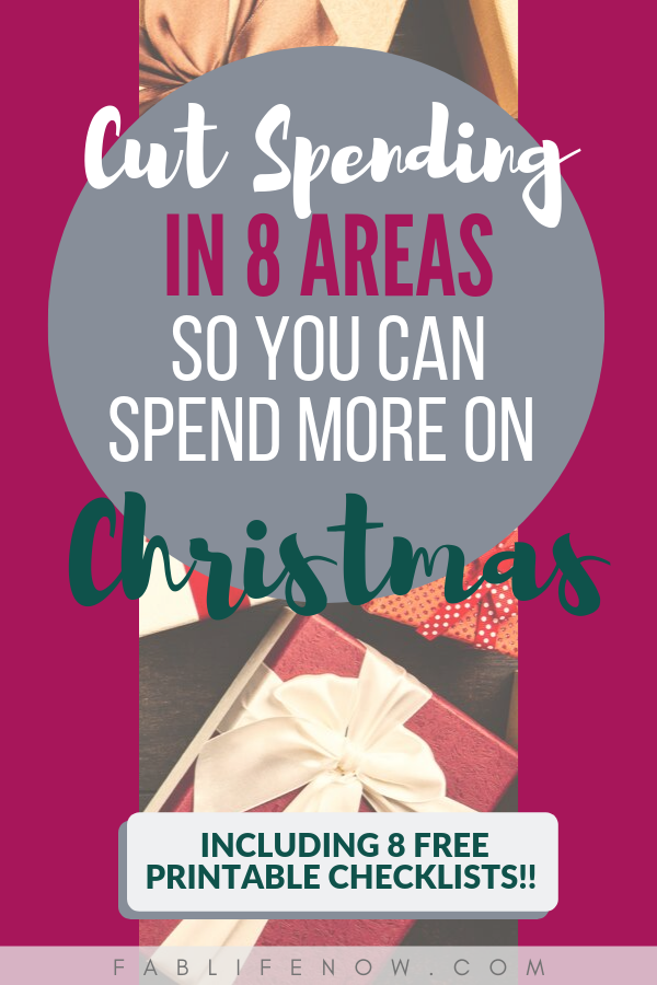 cut costs and spending in 8 budget areas so you have more money to spend on Christmas