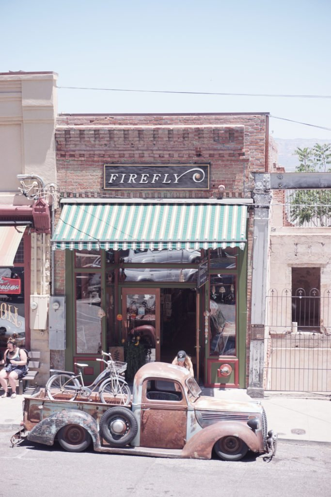 Firefly Gallery in Jerome Arizona, filled with pieces created by local artists