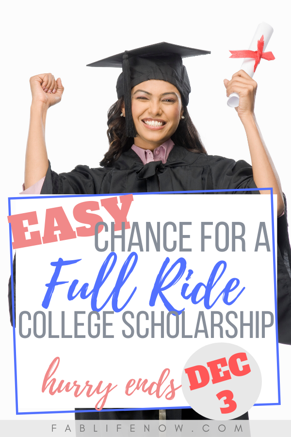 Easy chance for a full ride college scholarship