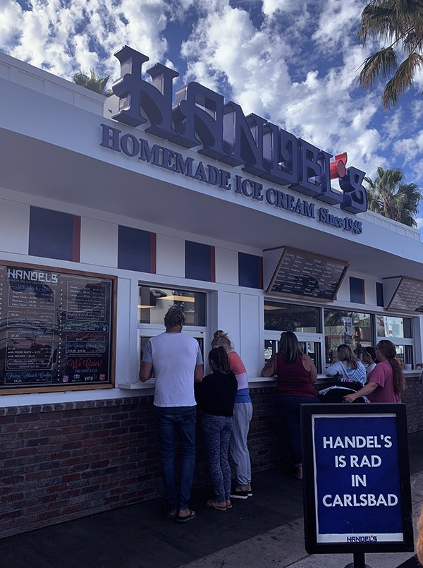 Handel's Homemade Icecream Carlsbad Village California