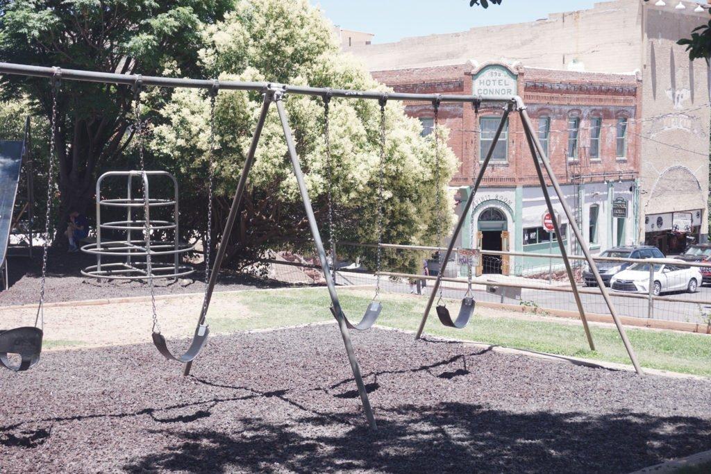 Jerome Park playground in Jerome, Arizona
