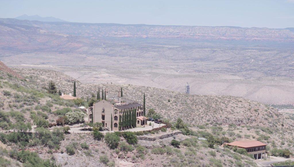 Jerome Inn overlooking the northern arizona desert, visit haunted inn in Arizona