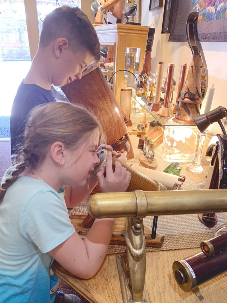 Captured by the magic of the Kaleidoscopes at the Nelly Bly shop in Jerome, Arizona