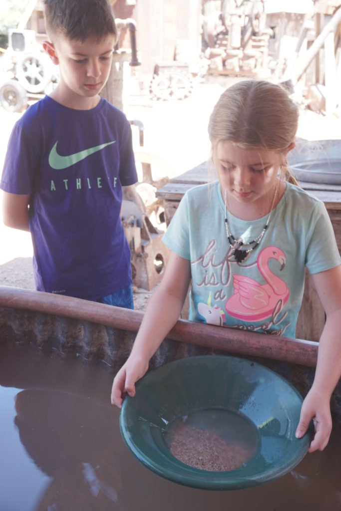 Mining for gold in the ghost town in Jerome, Arizona