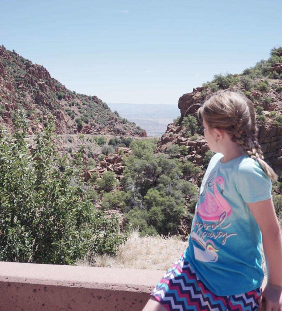 Scenic Viewpoint between Prescott and Jerome, Arizona,