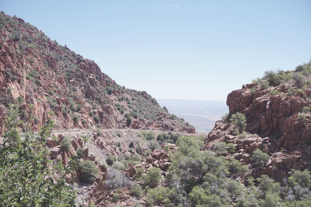 The road through the mountain to Jerome, Arizona road from prescott to Jerome, perfect day trip