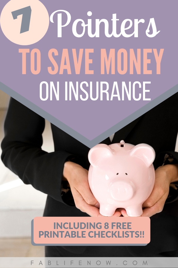 pointers to save money on insurance