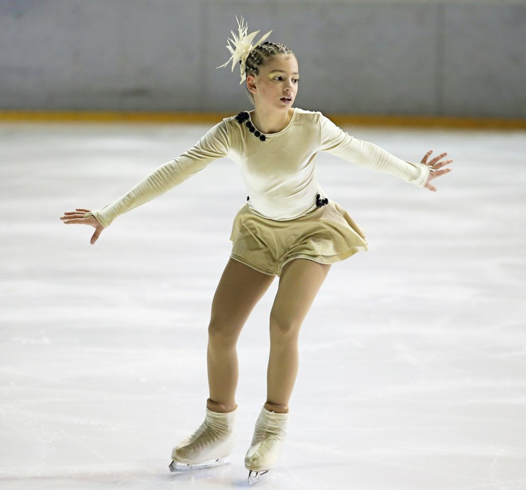 Figure skater can give a new skater the motivation to keep going and keep trying.