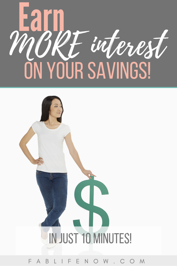 Earn more interest on your savings, savings account earnings, build your savings, start an emergency fund, get more interest now, make more on your savings, increase your savings account, find a bank with high interest, what bank has high interest
