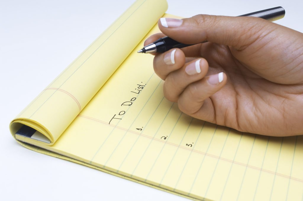 power of words for to do list
